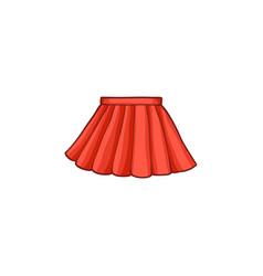 flat woman summer skirt vector image