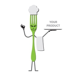 Fork cartoon vector image vector image