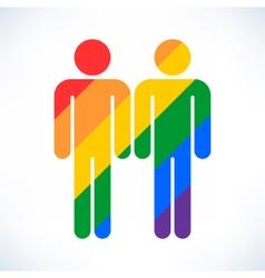 Gay marriage homosexual color icon vector
