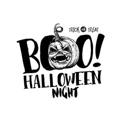 Halloween boo label vector