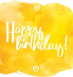 Happy Birthday Script yellow vector image
