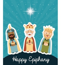 Happy epiphany design vector
