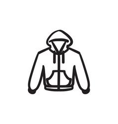 Hoodie sketch icon vector