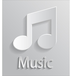 Icon music vector image vector image