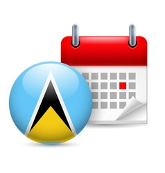 Icon of national day in saint lucia vector