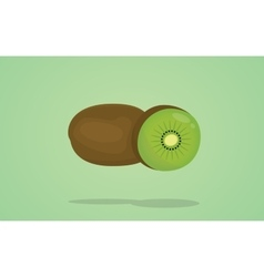 kiwi isolated with flat style vector image vector image