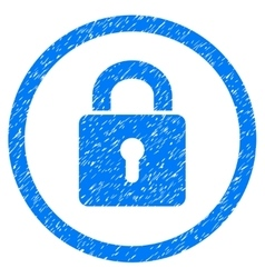 Lock keyhole rounded icon rubber stamp vector