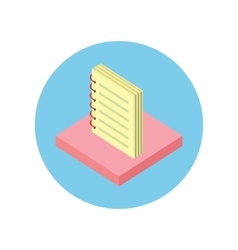 Notebook Icon Design Flat Isolated Round vector image