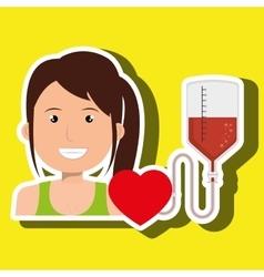 Person blood donor nurse vector