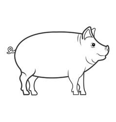 pig animal farm icon vector image vector image
