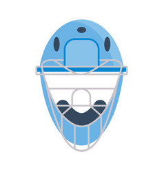 protective baseball helmet vector image vector image