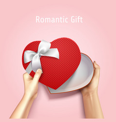 Romantic gift box background vector