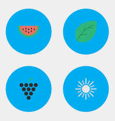 Set of simple horticulture icons elements sheet vector