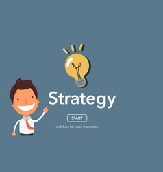 strategy concept on website page vector image vector image