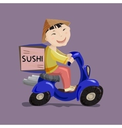 Sushi delivery concept vector image