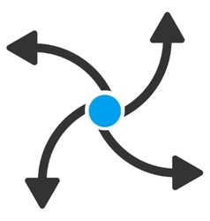 Swirl direction icon vector