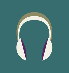 Technology gadget in flat design headphones stereo vector