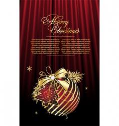 vector Christmas ball vector image