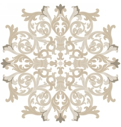 Vintage round baroque ornament vector