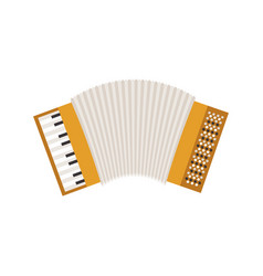 white background with accordion icon vector image