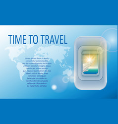 world travel and tourism concept banner of a vector image vector image