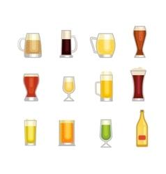 Beer cup vector image