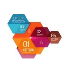Paper business option button infographic templates vector