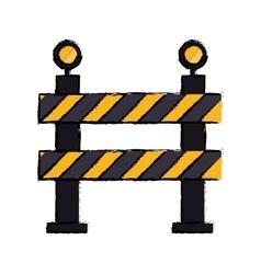 Barrier restricted street stripe design drawing vector