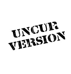 Uncur version rubber stamp vector