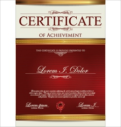 Red Certificate template vector image