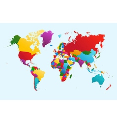 World map colorful countries eps10 file vector