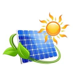 Solar energy eco concept vector image