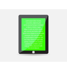 Realistic black touch-pad icon tablet pc vector
