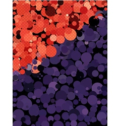 Abstract dot texture with red and purple circle vector