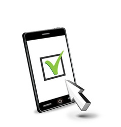 smart phone and checkbox vector image