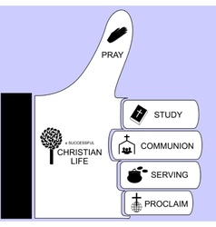 Components for a successful christian life vector