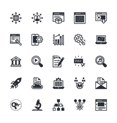 Seo and marketing colored icons 5 vector
