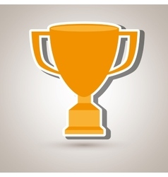 Trophy cup design vector