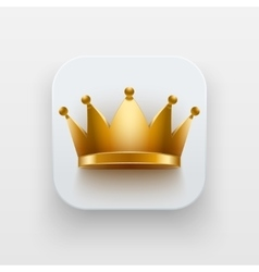 King luxury icon symbol of crown on light vector