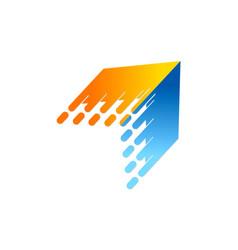 Arrow technology speed logo vector