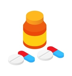 Bank tablets and pills vector
