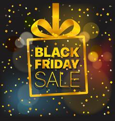 black friday sale concept black friday sale gold vector image vector image