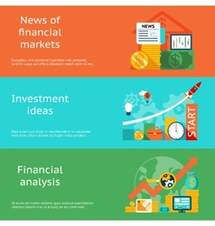 Business concepts News of markets investment vector image vector image