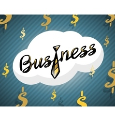 Business logo golden tie on dollar background vector image