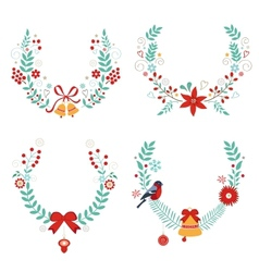 Christmas laurels vector image vector image