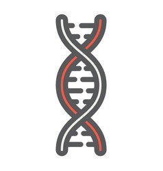 dna filled outline icon medicine and healthcare vector image