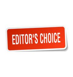 Editors choice square sticker on white vector