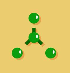 Flat icon design collection atoms disconnection vector