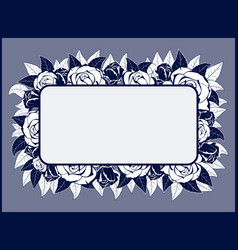 frame for congratulation with roses vector image vector image