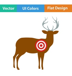 Icon of deer silhouette with target vector